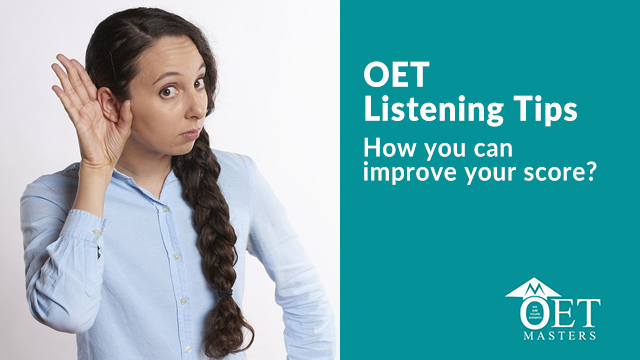 OET Listening tips | how to score B in oet listening