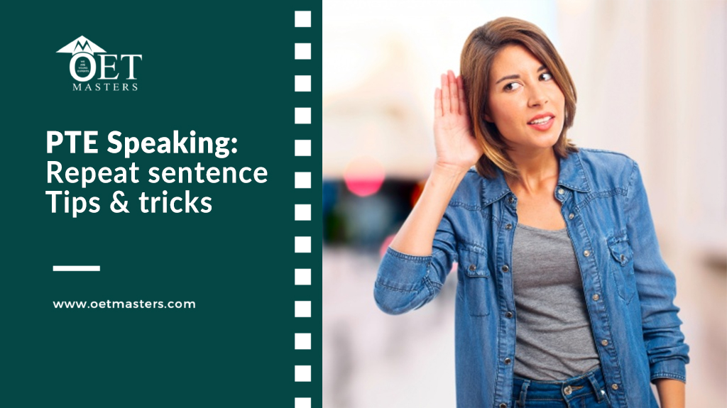 PTE Speaking: Repeat sentence | FREE Tips & tricks