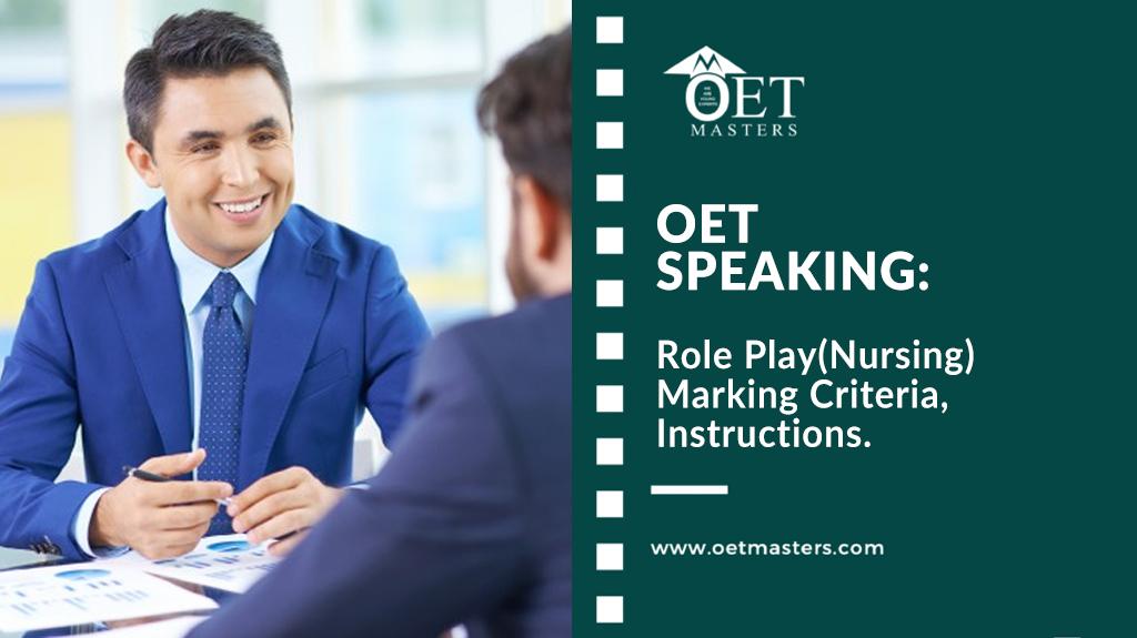 OET Speaking: Role Play(Nursing) OET Speaking Marking Criteria