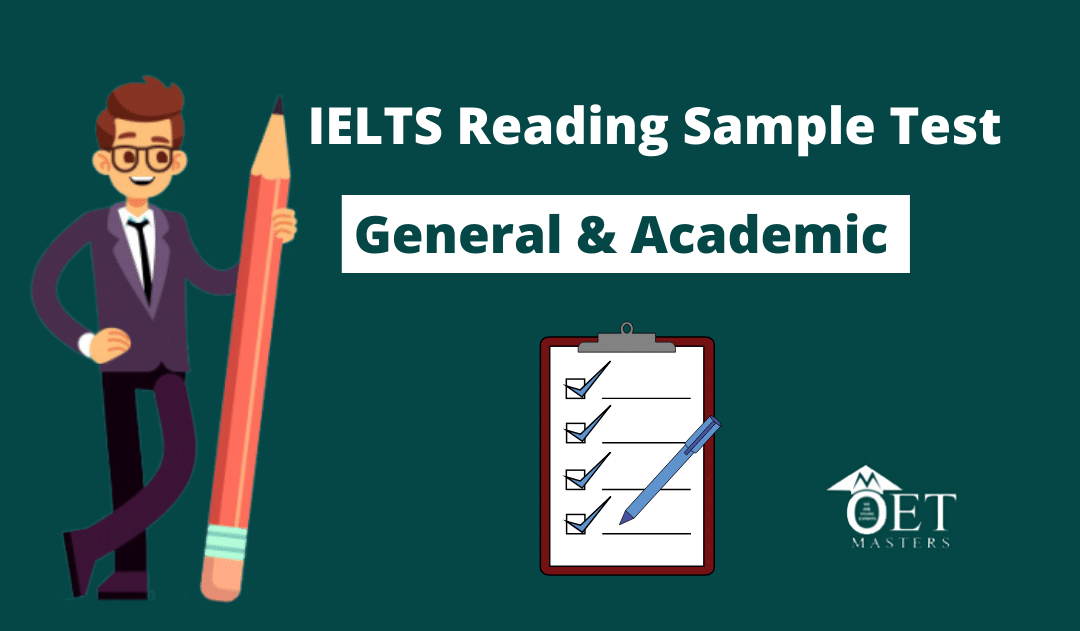 IELTS Reading General & Academic Sample Test 2020