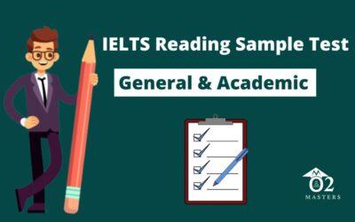 IELTS Reading General & Academic Sample Test 2020